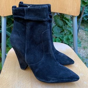 SAM EDELMAN Roden Black Suede Ankle Boots  8.5